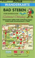 Bad Steben: Ferienregion Selbitztal (Schauenstein, Selbitz, Naila, Lichtenberg, Issigau, Köditz/Joditz) Ferienregion Döbraberg (Schwarzenbach a. Wald) (Fritsch Wanderkarten 1:35000)