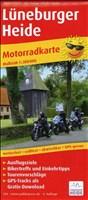 Lüneburger Heide: Motorradkarte mit Tourenvorschlägen, Ausflugszielen, Einkehr- & Freizeittipps, wetterfest, reissfest, abwischbar, GPS-genau. 1:200000 (Motorradkarte / MK)