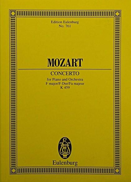 Konzert Nr. 19 F-Dur: Krönungs-Konzert I. KV 459. Klavier und Orchester. Studienpartitur. (Eulenburg Studienpartituren)