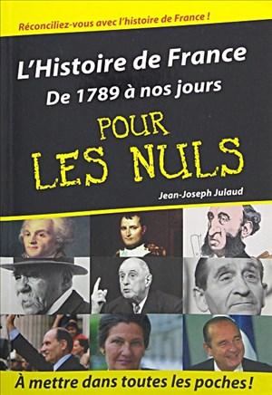 L'histoire de France de 1789 à nos jours poche pour les nuls | Cover