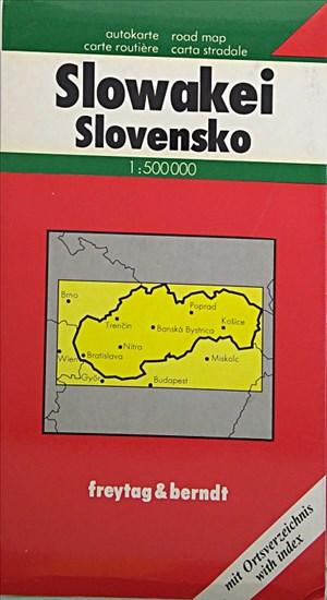 Freytag Berndt Autokarte : Slowakei; Slovakia; Slovenska republika; Slovacchia | Cover