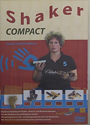 """Shaker COMPACT. DVD """"Percussion COMPACT"""" mit Shaker aus Holz 