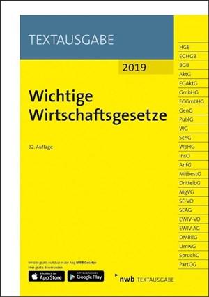 Wichtige Wirtschaftsgesetze (NWB Textausgabe) | Cover