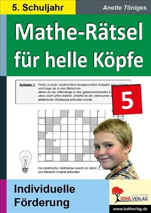 Mathe-Rätsel für helle Köpfe / 5. Schuljahr | Cover
