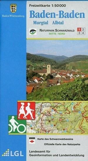 Baden-Baden: Murgtal Albtal (Freizeitkarten 1:50000) | Cover