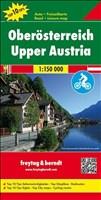 Oberösterreich, Autokarte 1:150.000, Top 10 Tips mit Radrouten, freytag & berndt Auto + Freizeitkarten