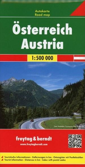 Österreich, Autokarte 1:500.000: Wegenkaart 1:500 000 (freytag & berndt Auto + Freizeitkarten)   Cover