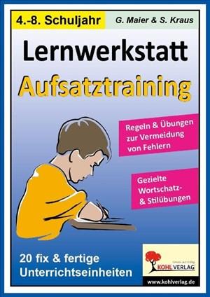 Lernwerkstatt Aufsatztraining | Cover