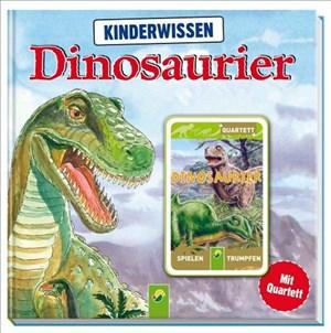 Kinderwissen Dinosaurier: Buch mit 32 Quartettkarten | Cover