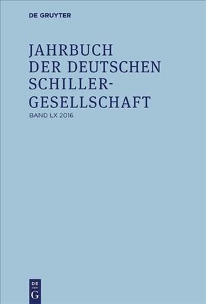 2016 (Jahrbuch der Deutschen Schillergesellschaft)   Cover