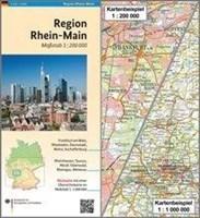 Region Rhein-Main: Karte 1:200 000 mit Übersichtskarte 1:1 000 000 (Regionalkarten 1:200000)