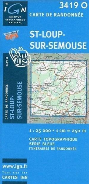 Saint Loup sur Semouse 1 : 25 000 (Ign Map) | Cover