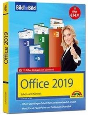 Office 2019 Bild für Bild erklärt. Komplett in Farbe.: Word, Excel, Outlook, PowerPoint mit vielen Praxistipps | Cover