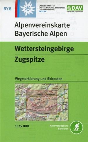 Wettersteingebirge, Zugspitze: Wegmarkierung, Ski- und Schneeschuhrouten (Alpenvereinskarten)   Cover