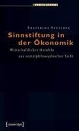 Sinnstiftung in der Ökonomik: Wirtschaftliches Handeln aus sozialphilosophischer Sicht (Sozialtheorie) | Cover