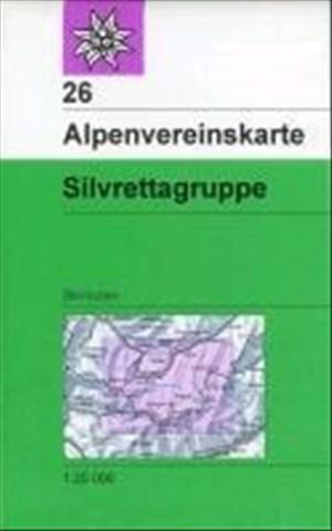 Silvrettagruppe: Skirouten - Topographische Karte 1:25000 (Alpenvereinskarten) | Cover