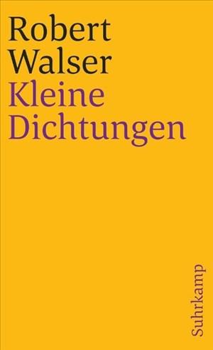 Sämtliche Werke in zwanzig Bänden: Vierter Band: Kleine Dichtungen (suhrkamp taschenbuch)   Cover