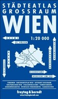 Wien Großraum Städteatlas, Stadtplan 1:20.000, freytag & berndt Stadtpläne