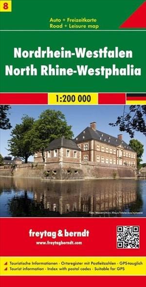 Nordrhein-Westfalen, Autokarte 1:200.000, Blatt 8, freytag & berndt Auto + Freizeitkarten | Cover