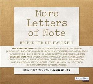 More Letters of Note: Briefe für die Ewigkeit | Cover