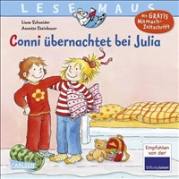 Conni übernachtet bei Julia (LESEMAUS, Band 115)