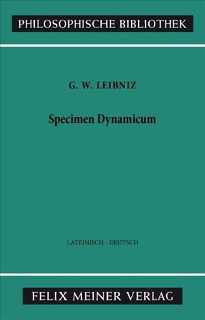 Specimen Dynamicum (Philosophische Bibliothek) | Cover