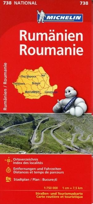 Michelin Rumänien: Straßen- und Tourismuskarte 1:750.000 (MICHELIN Nationalkarten) | Cover