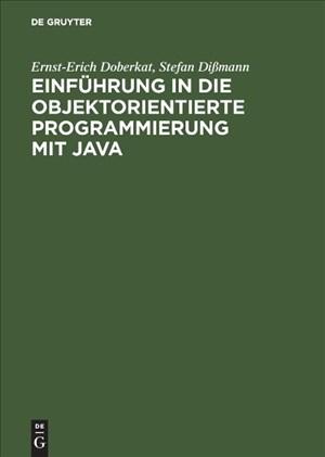 Einführung in die objektorientierte Programmierung mit Java   Cover