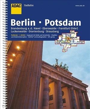 ADAC Stadtatlas Berlin/Potsdam mit Brandenburg a.d. Havel, Eberswalde, Frankfurt: (Oder), Luckenwalde, Oranienburg, Strausberg 1:20 000 (ADAC StadtAtlanten 1:20.000) | Cover