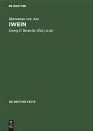 Iwein: Text der siebenten Ausgabe (de Gruyter Texte)   Cover
