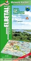 Elbetal West = Offizielle Rad-, Reit u. Wanderkarte - UNESCO - Biosphärenreservat Flusslandschaft Elbe - Karte West: Maßstab 1:50.000 - GPS geeignet - ... - Maßstab 1:50.000 - GPS geeignet