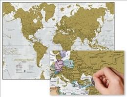 Die Welt zum Rubbeln. Scratch Map Deutsch