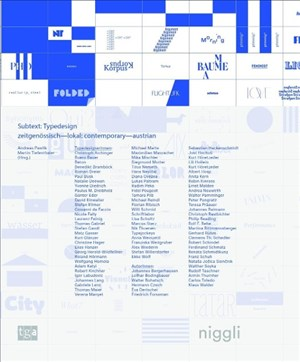 Subtext: Typedesign (NIGGLI EDITIONS) | Cover