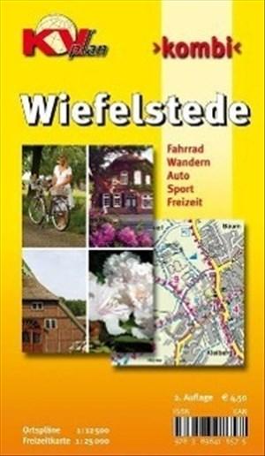 Wiefelstede: Gemeindeplan 1:12.500 mit Freizeitkarte 1:25.000 inkl. Radrouten und Anschluss an Westerstede (KVplan Ostfriesland-Region) | Cover