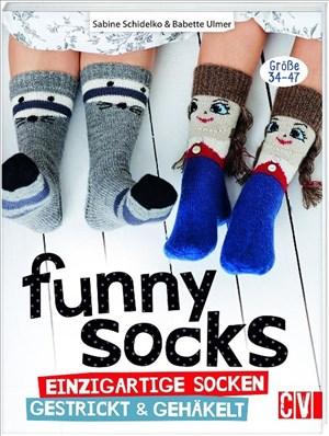 Funny Socks: Einzigartige Socken gestrickt & gehäkelt | Cover