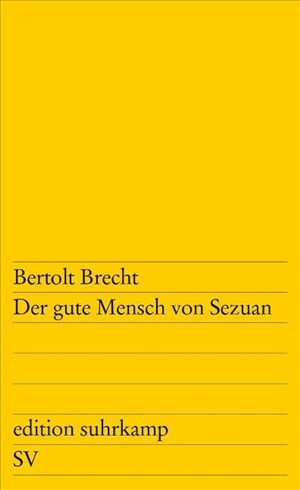 Der gute Mensch von Sezuan: Parabelstück (edition suhrkamp)   Cover